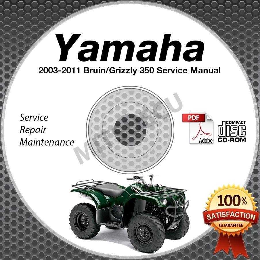 2003-2011 Yamaha BRUIN / GRIZZLY 350 YFM35 2WD Service Manual CD LIT-11616-BN-20