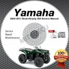 2003-2011 Yamaha BRUIN / GRIZZLY 350 YFM35 2WD Service Manual CD LIT-11616-BN-20