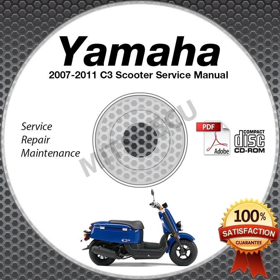 2007-2011 Yamaha C3 Scooter Service Manual CD ROM repair shop 08 09 10 moped