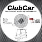 2004 Club Car Precedent Golf Car (ELEC) Service Manual CD ROM repair shop cart