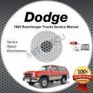 1993 Dodge RAM 3.9L 5.2L 5.9L + Diesel Truck Service Manual CD shop