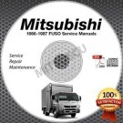 1986-1987 Mitsubishi FUSO FK FM Service Manual CD ROM repair shop 6D14 6D14T