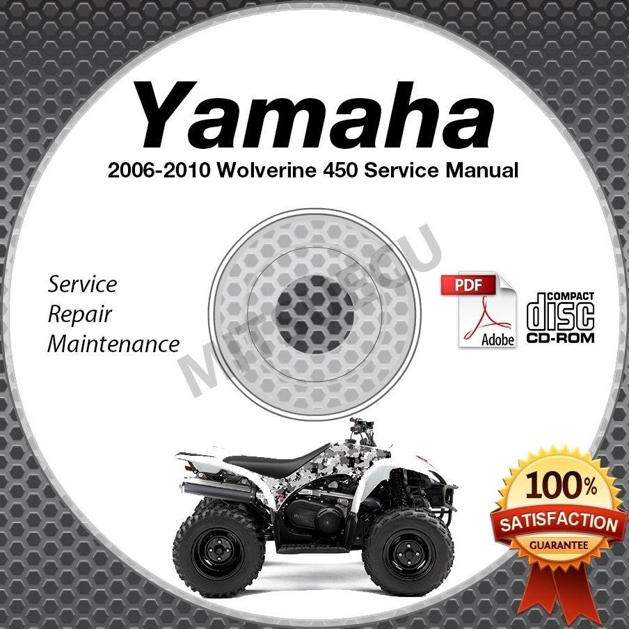 2006-2010 Yamaha WOLVERINE 450 YFM450 Service Manual CD ROM repair shop 07 08 09