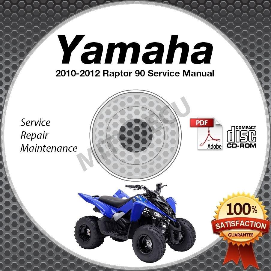 2010-2012 Yamaha RAPTOR 90 YFM90 Service Manual CD ROM repair shop 2011