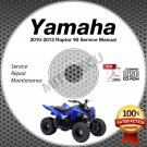 2010-2012 Yamaha RAPTOR 90 YFM90 Service Manual CD ROM repair shop 2011
