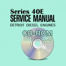 Detroit Diesel Series 40E Service Manual on CD ROM (6SE410) Repair Workshop