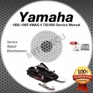 1992-1995 Yamaha VMAX-4 750/800 Snowmobile Service Manual CD ROM repair shop 93