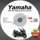 2008-2010 Yamaha MAJESTY Scooter Service Manual CD ROM repair shop 2009