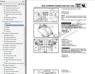1985 1986 1987 1988 yamaha badger 80 service manual cd repair shop yfm80  mmdl - ecrater