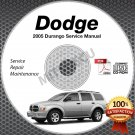 2005 Dodge DURANGO (ST SLT LARAMIE) 3.7L, 4.7L Service Manual CD shop repair