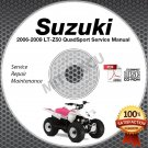 2006-2009 Suzuki LT-Z50 QuadSport Service Manual CD shop repair LTZ50 2007 2008