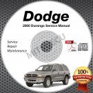 2000 Dodge DURANGO (Sport SLT R/T) 4.2, 5.2, 5.9L Service Manual CD shop repair