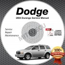 2004 Dodge DURANGO (ST SLT Limited) 3.7, 4.7, 5.7L Service Manual CD shop repair