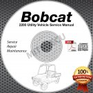 Bobcat 2200 Utility Vehicle Service Manual CD (2352- 2353- D&G Serials) repair