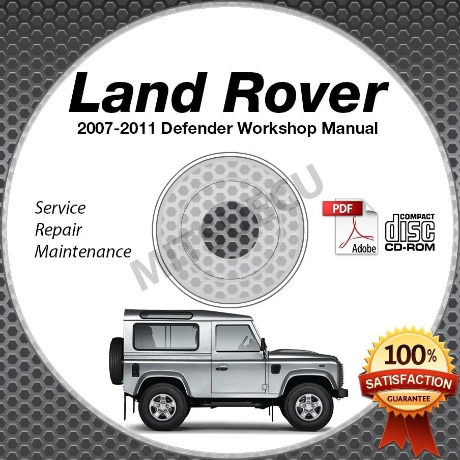 2007-2011 Land Rover DEFENDER 2.4L Duratorq Service/Workshop Manual CD ROM