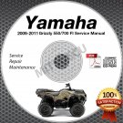 2009 2010 2011 Yamaha GRIZZLY 550 & 700 FI 4WD Service Manual CD ROM yfm5 yfm7