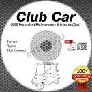 2005 Club Car Precedent Golf Car (GAS) Service Manual CD ROM repair shop cart
