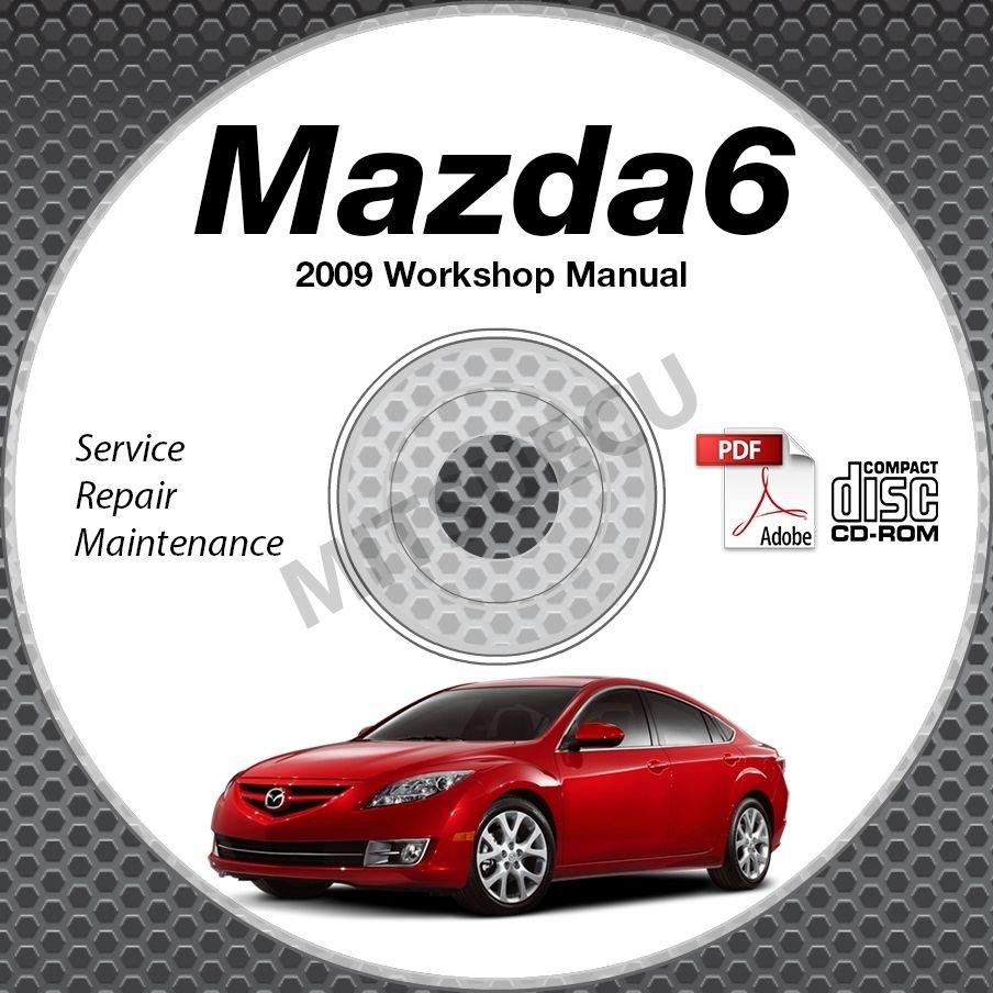 2009 Mazda6 Service Manual CD ROM workshop repair MZR 2.5L 3.7L NEW!
