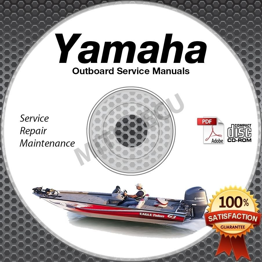 ALL 1999 Yamaha Outboards Service Manual CD ROM repair shop boat motor outboard