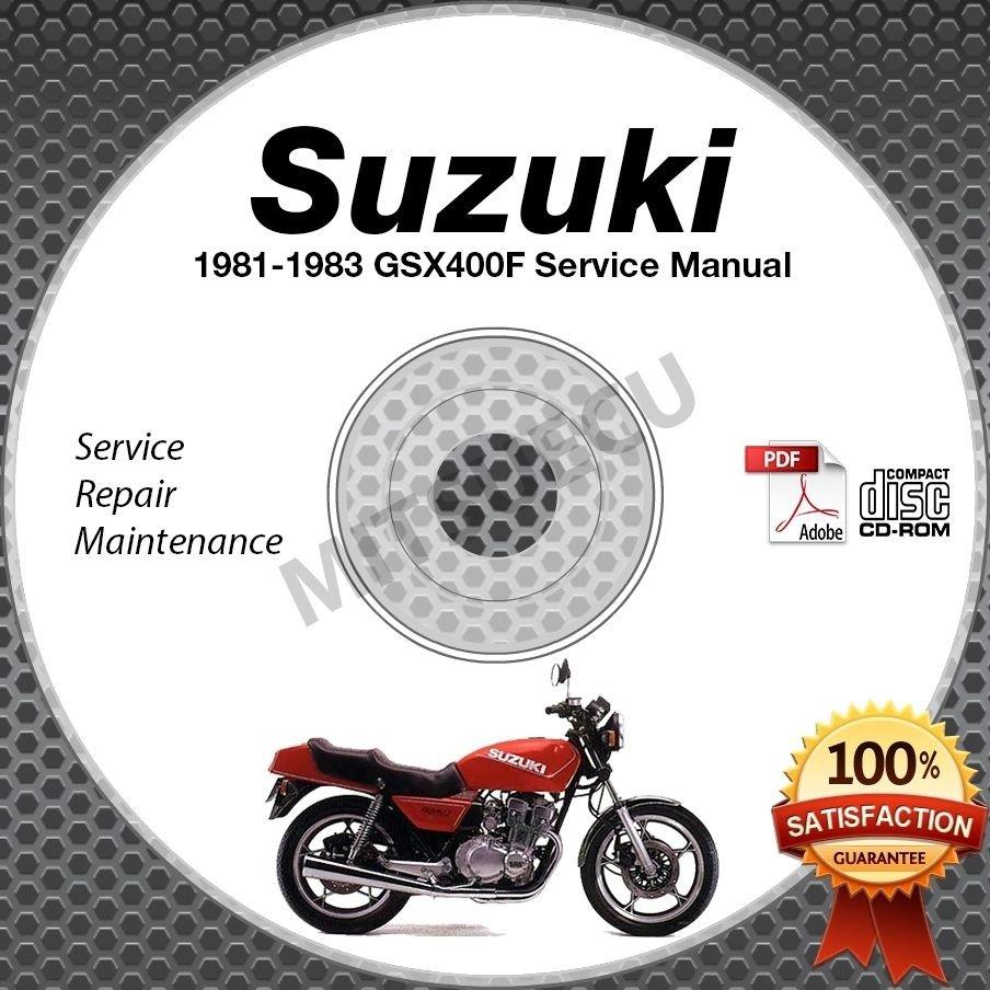 1981 1982 1983 Suzuki GSX400F Katana Service Manual CD ROM Repair Shop