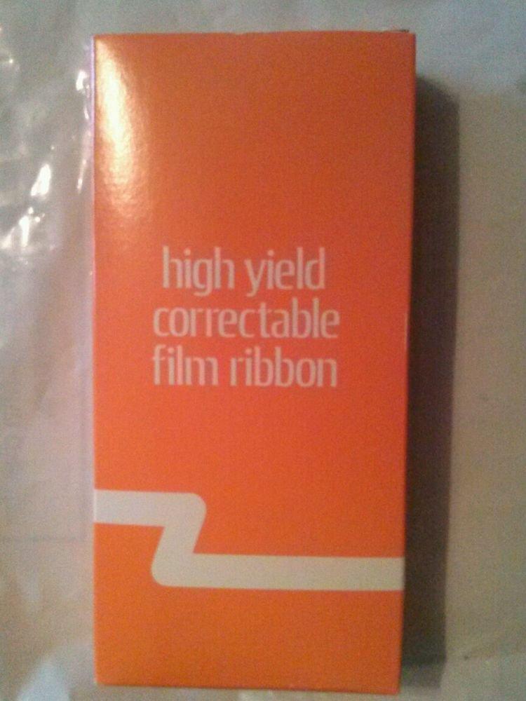 High Yield Correctable Film Ribbon Black- Typewriter