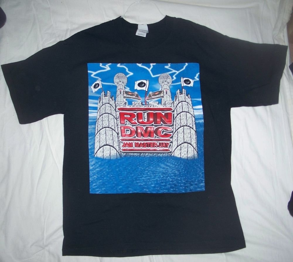 Run DMC Original Concert Shirt 2002 Tour Sz L- exc