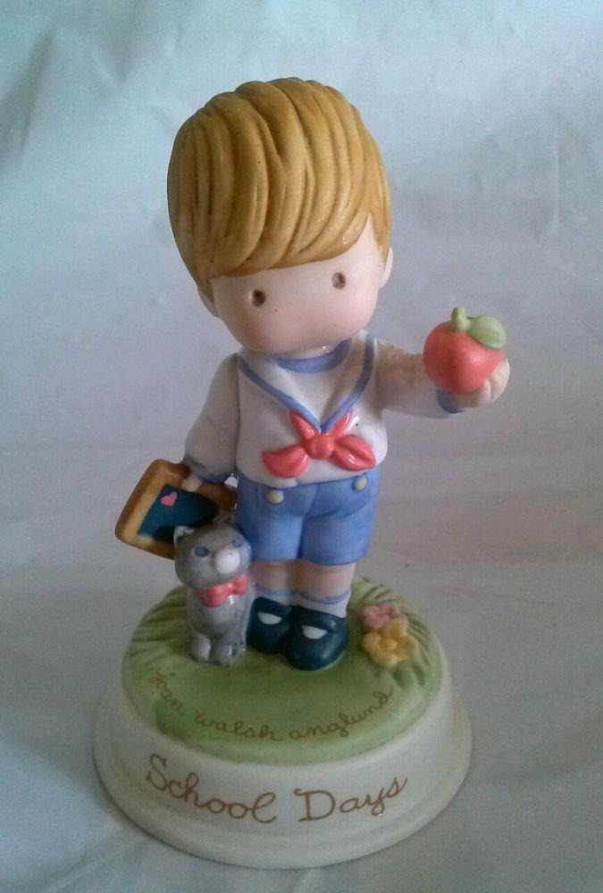 Avon Joan Walsh Anglund Porcelain Figurine- 'School Days' 1986