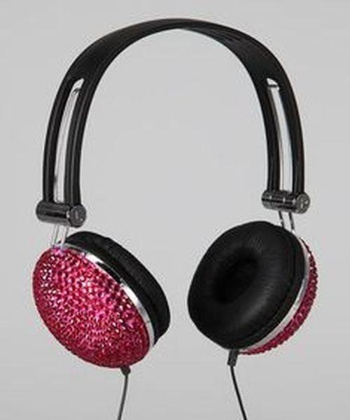 Tri-Coastal Pink Bling Headphones NIP