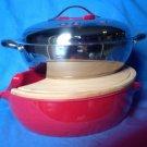 Twiztt Cookware 4 Pc Cut, Cook & Serve Set New