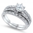 Sterling Silver 2CT ROUND CUT CZ .925 Sterling Silver Engagement Bridal Wedding