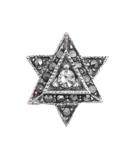 Six Point Star Antique Style Marcasite Pendant Sterling Silver Antique Style MAR