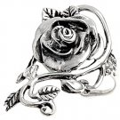 925 Solid Sterling Silver Ring - Rose Band 34 mm