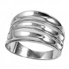 925 Solid Sterling Silver Ring Band 13mm