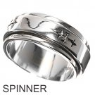 925 Solid Sterling MEN'S 9MM SPINNER RING 925 Solid Sterling Silver Band Size 8-