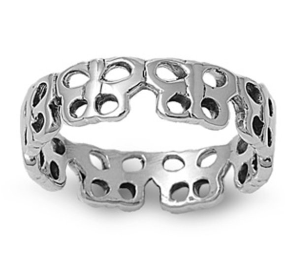 925 Solid Sterling Silver Ring Band 6 mm