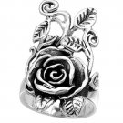 925 Solid Sterling Silver Ring - Rose Band 32 mm