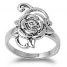 925 Solid Sterling Silver Ring - Rose Band 20mm