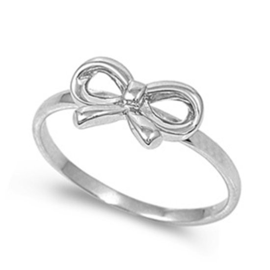 925 Solid Sterling Silver Ring - Ribbon Band 8 mm
