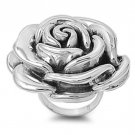 925 Solid Sterling Silver Ring - Rose Band 41mm