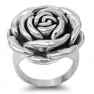 925 Solid Sterling Silver Ring - Rose Band 26mm