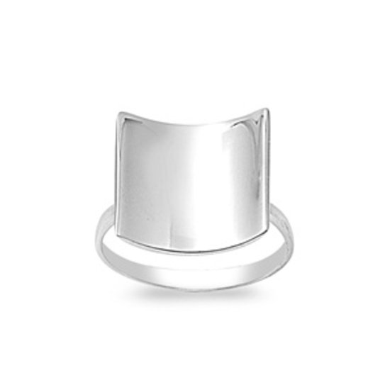 925 Solid Sterling Silver Ring Band 14 mm (0.58 inch)
