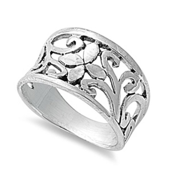 925 Solid Sterling Silver Ring Band 11 mm (0.45 inch)