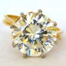 10.00CT BEAUTIFUL CUBIC ZIRCONIA MOUNTING 14KT YELLOW GOLD LADIES NEW SIZE 7