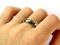 PLATINUM MENS RING WEDDING BAND 13 GRAMS HEAVY SIZE 11 COMFORT FIT