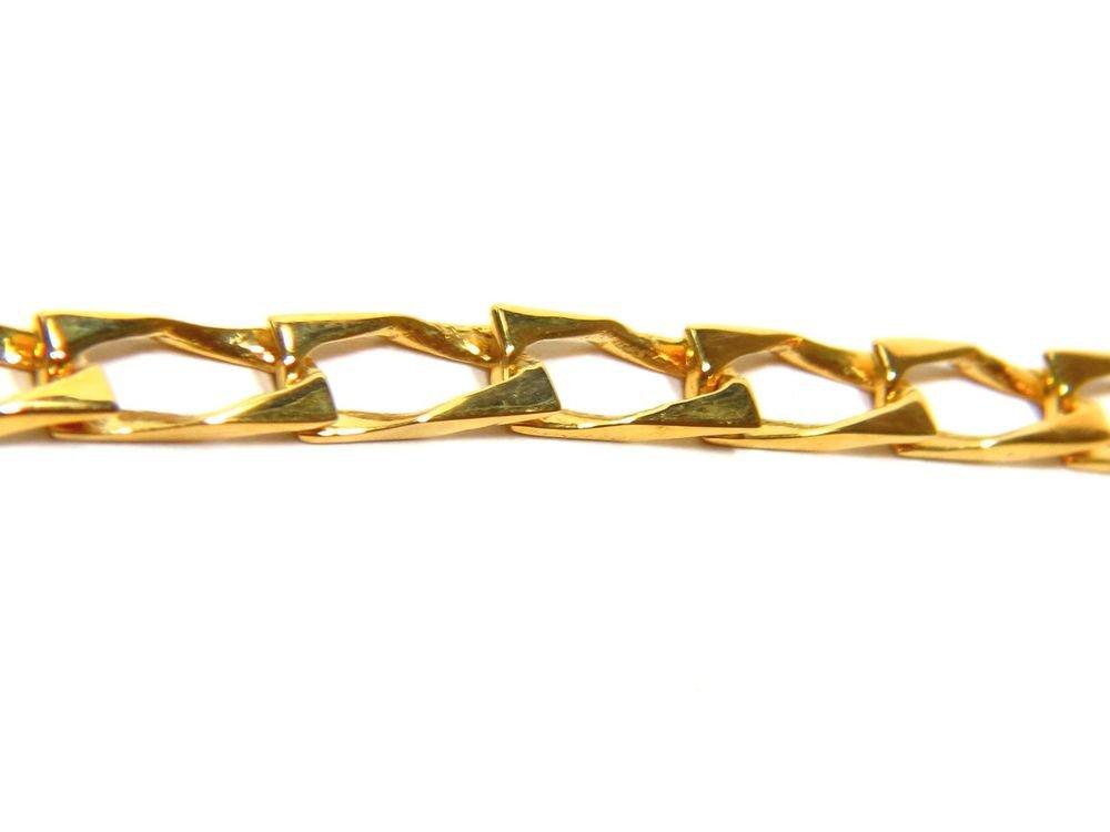 "14KT YELLOW GOLD SOLID LADIES MODERN LINK BRACELET 7"""