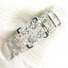 1.40CT DIAMONDS NATURAL 18KT ENGAGEMENT RING LADIES ILLUSION SET