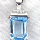 NATURAL 10.00CT TOPAZ PENDANT STERLING SILVER 925