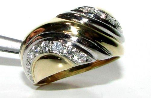 $2500 NATURAL 0.60CT DIAMOND VINTAGE DECO RING 14KT