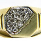 NATURAL 0.25CT DIAMOND MENS PINKY RING ESTATE 14KT YELLOW GOLD BAND VS20