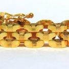 "14KT BRACELET YELLOW GOLD INTERLOCKING GOLD LINK DESIGN 7"""